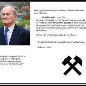 (Magyar) Gyászhír – id. Veres Imre